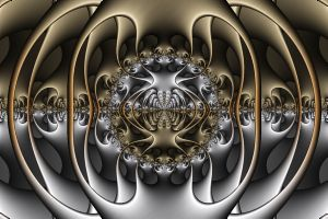 Fractal: Pewter and Brass